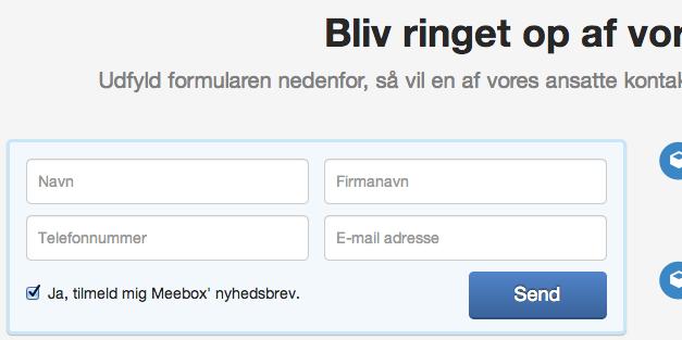 Meebox kontaktform